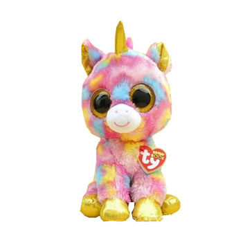 2015 Hot Ty Beanie Boos Big Eyes Small Unicorn Plush Toy Doll Kawaii Stuffed Animals