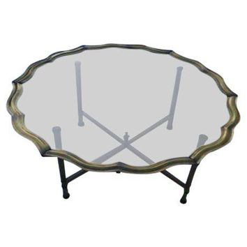 Pre-owned 1960s Modern Baker Brass Tray Coffee Table