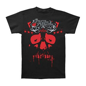 Bullet For My Valentine Men's  Poison Skull T-shirt Black