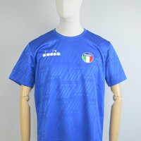 Diadora AW17 RB94 T-Shirt in Olympian Blue