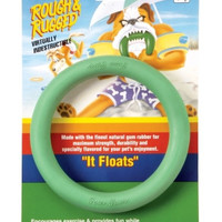 """Four Paws Rough & Rugged Rubber Floating Ring Toy 7"""""""