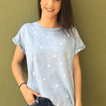 Star Bright Top- Dusty Mint
