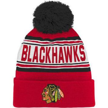 Chicago Blackhawks Child Cuffed Pom Knit Hat