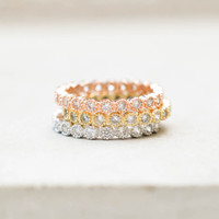 Bezel Eternity Band Set