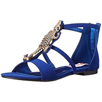 Two Lips Womens Allie Alligator Embellished T-Strap Sandals