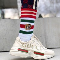Summer 11: Gucci Spring Trending Women Men Personality Print Lovers Sport Shoe Sneakers I