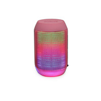 MY-500BT Mini Portable Bluetooth Wireless Speaker  Colorful LED Light Subwoofer HIFI Speaker Support USB TF Card - Pink