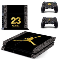 Michael Jordan MJ Cover Decal PS4 Skin Sticker for Sony PlayStation Console & 2 Controller Skins