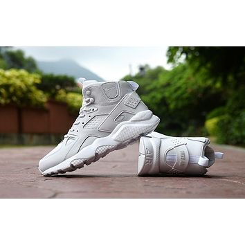 Air Huarache Run Ultra High White Sneaker Shoes