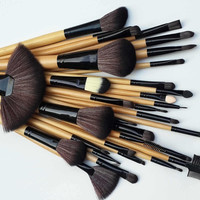 Women's Makeup Sets New 32pcs Kit make up Brushes Set With Soft Bag Case (Color: Brown)
