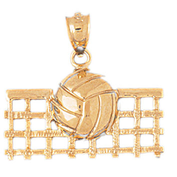 14K GOLD SPORT CHARM - VOLLEYBALL #3494