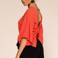 Kalahari Back Bow Top - Red