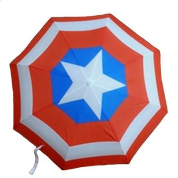 Rulercosplay Captain America Shield Umbrella Fully Automatic Folding Umbrella