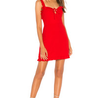 About Us Brynn Mini Dress in Red