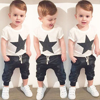Menoea Baby Boys Girls Romper Infant Cute Cartoon Long Sleeve Jumpsuit Toddler Cartoon Clothing Sets New born Baby Clothes +Pant
