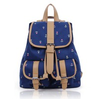 Oxford Style Canvas Leather Backpack