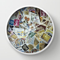 Stamps Wall Clock by Bruce Stanfield