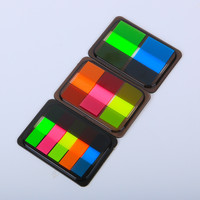 1PC Cute Colorful Fluorescent Memo Pad Post it Sticky Bookmark Writing Pads Cute Stationery Sticker Office School Supplies