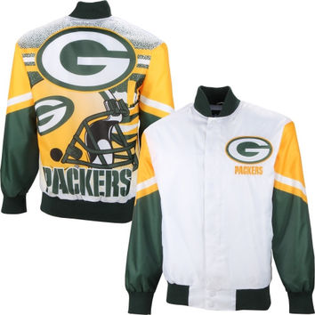Green Bay Packers City Scape Sublimated Jacket – White