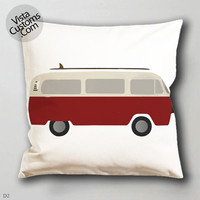 live simply Volkswagen VW   pillow case, cover ( 1 or 2 Side Print With Size 16, 18, 20, 26, 30, 36 inch )