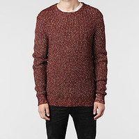 Mens Arlberg Crew Jumper (Light Oxblood Mrl) | ALLSAINTS.com
