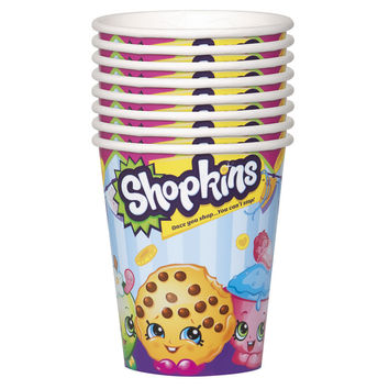 Shopkins Paper Cups [8 Per Pack - 9 oz - 270 ml]