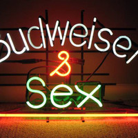 Budweiser Sex Neon Sign Real Neon Light