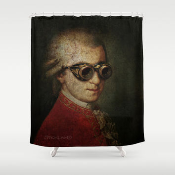 Steampunk Mozart Shower Curtain by Paul Stickland for StrangeStore
