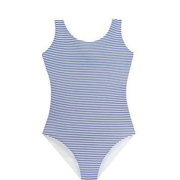 MAYLANA KIDS Janie Blue Stripes One Piece