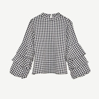 GINGHAM CHECK TOP DETAILS