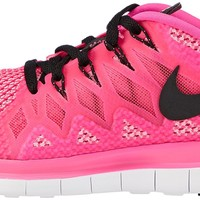 Nike Women's Free 5.0 Pink Pow/Black/Polarized Pink Running Shoe 8 Women US