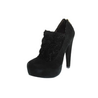 Betsey Johnson Womens Meadowww Suede Platform Booties