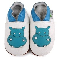 Hippo Soft Sole Leather Baby Shoes Size: 6-12 Month
