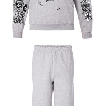 Justin Bieber full body tattoo son of god hoodie sweatpants outfit ash
