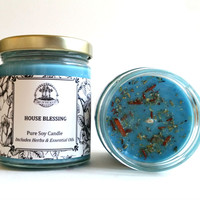 House Blessing Soy Candle for Good Fortune, Blessings, Peace & Tranquility