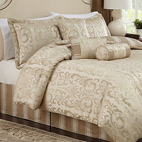 Symphony 7 Piece Full Jacquard Comforter Set - Bed in a Bag - Bed & Bath - Macy's