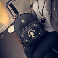 Stylish Hot Deal Back To School College On Sale Comfort Casual Winter Vintage Rhinestone Backpack [6582796423]