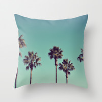 California Palm Trees Throw Pillow by Lawson Images | Society6