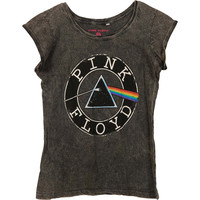 Pink Floyd  Vintage Circle Logo Girls Jr Grey Rockabilia