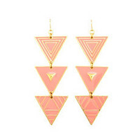 Geometric Triangle Dangle Earrings: Charlotte Russe
