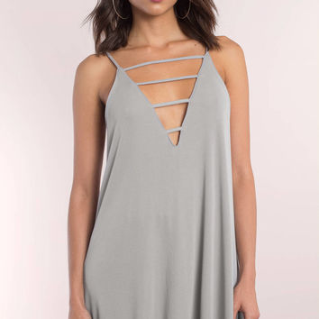 Halsey Plunging Strappy Shift Dress
