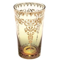 Moroccan Glasses - Tall, 12 Ounce, Set of 4 - Amber
