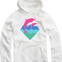 Free shipping dolphin printed pullover new arrival hot sale for spring/autumn/winter Pink Dolphin Hoodies hip hop pullover 8 colors