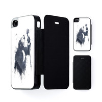 Wolf Song 3 Black Flip Case for Apple iPhone 4 / 4s by Balazs Solti