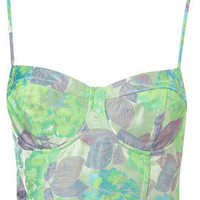 Neon Floral Jacquard Corset - Edited  - New In