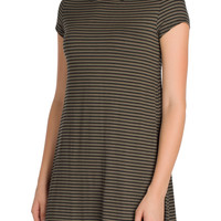 Olive Striped Dress-FINAL SALE