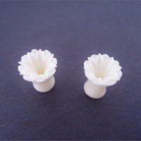 Urban Star Bone Flower Plugs (8 gauge - 2 gauge)