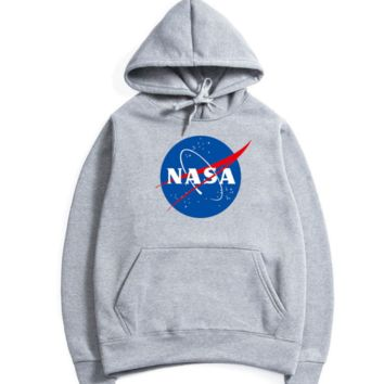 NASA autumn/winter new popular logo series of alphabet jacket hoodoos,Big icon