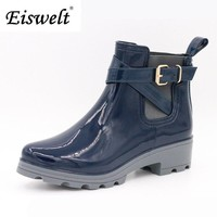 Women Rain Boots For Girls Ladies Casual Walking Outdoor Hunting Waterproof Rubber Shoes Ankle  Rainboots #HDS179