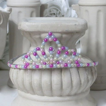 Princess Tiara - Princess Costume - Princess Gifts - Plastic Tiaras - Holiday Hair Accessories - Dress Up - Crowns and Tiaras - Gifts
